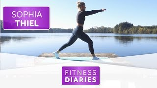 Home-Workout am See l Sophia Thiel l Folge 13 l Fitness Diaries