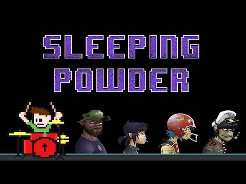 Gorillaz - Sleeping Powder (Blind Drum Cover) -- The8BitDrummer