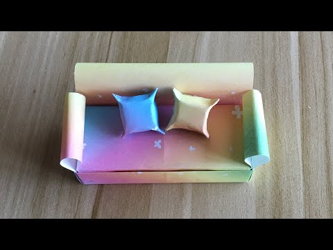 Origami Furniture Sofa - How to make a paper Sofa easy for beginner & kids?