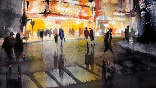 """Advancing with Watercolor:  Motif - """"The Paramount"""""""