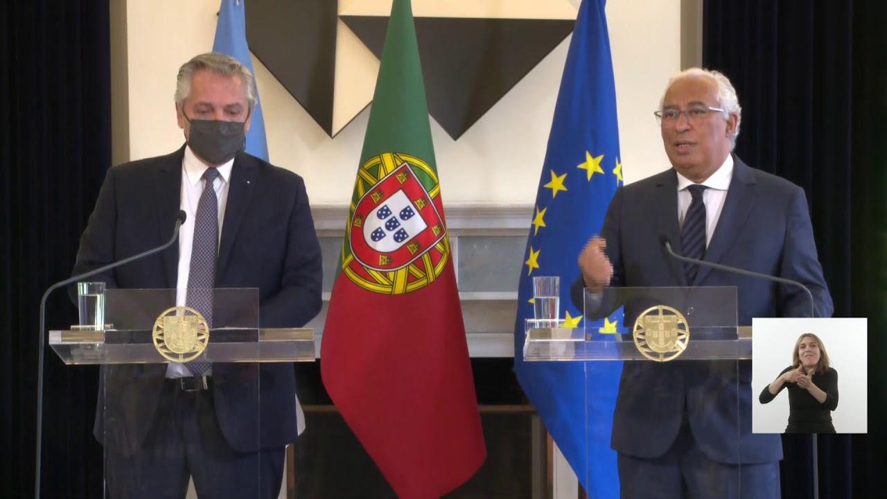Lisboa - Declaración conjunta del presidente Fernández y el primer ministro de Portugal
