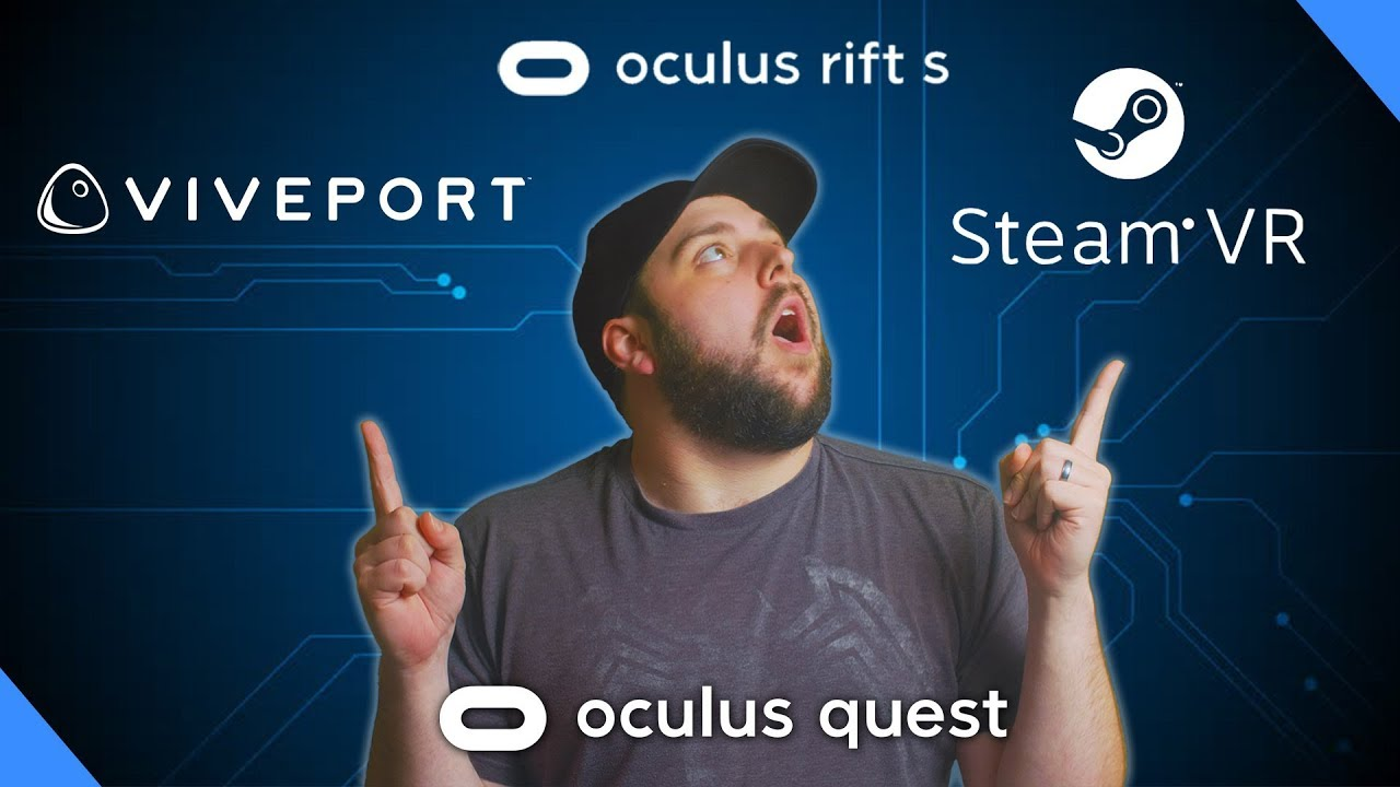 SteamVR Games On Oculus Quest + Viveport and Rift Games!