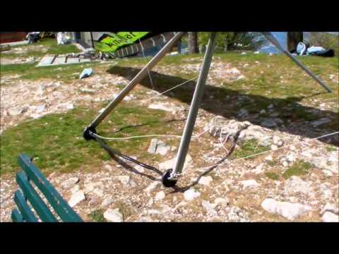 Deltaplano ICARO2000 LAMINAR 13 7 R F Montaggio Decollo Sasso del Ferro Pasqua 2014