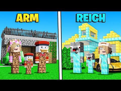 ARMES Familien LEBEN vs. REICHES Familien LEBEN in Minecraft !
