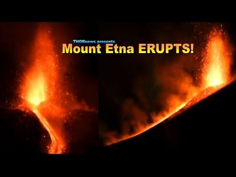 Mount Etna Erupts! and Star, Planet or UFO? - VOLCANO UPDATE