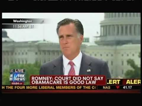 Mitt Romney Reacts to Supreme Court Healthcare Ruling