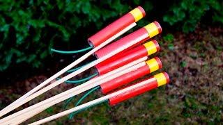 3x Mini Whistle Raketen mit 5g Knallsatz - Schanatterrakete!!!
