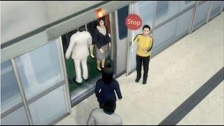 Wanita diselamatkan setelah rambut tersangkut di pintu kereta