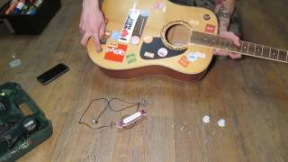 Обзор и установка звукоснимателя для акустической гитары с Aliexpress