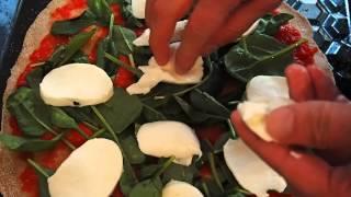 Пицца Шпинат (подготовка, часть 2). Береза и базилик. Пицца без дрожжей.