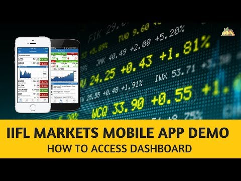 IIFL Markets Mobile App Demo#1 - How To Access Dashboard