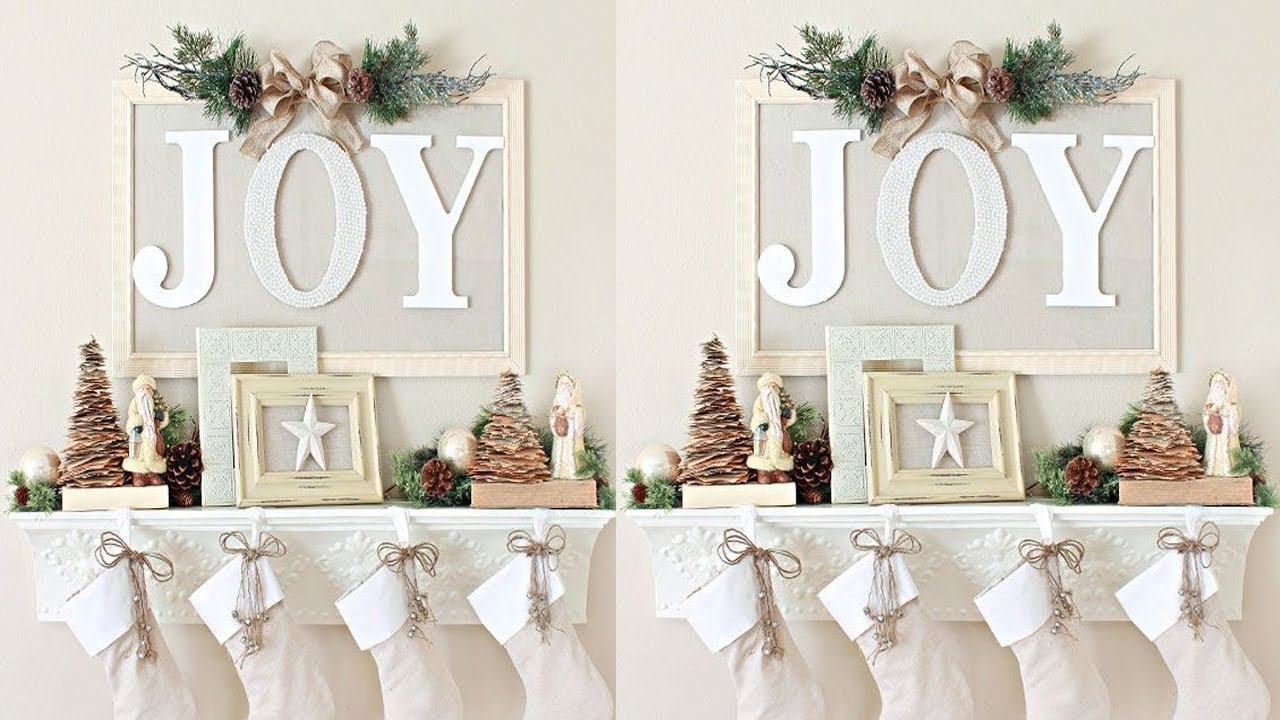 2017 Christmas Mantel Decorations Ideas - YouTube
