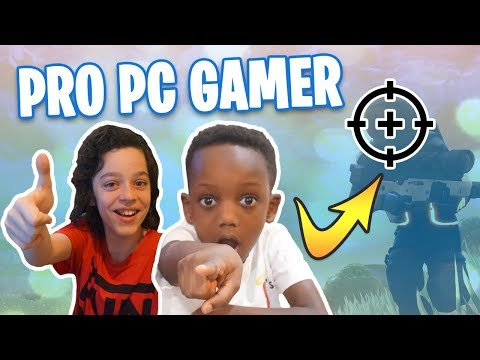 *NEW* -LEARNING To Play FORTNITE On PC - WOW!!