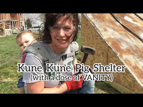 Kune Kune Pig Shelter with a DOSE of VANITY | Front Porch Catholic | Vlog