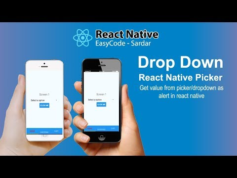 How to use dropdown in react native || Get value from Picker