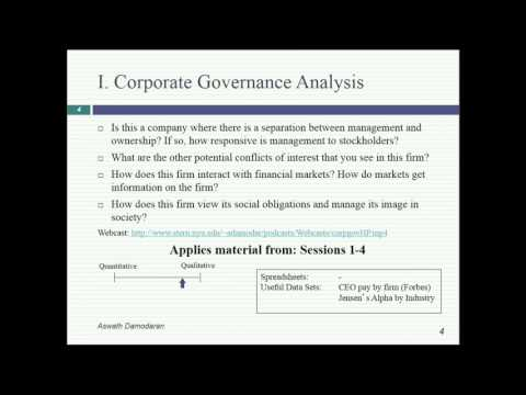 Session 2: The Objective in Corporate Finance
