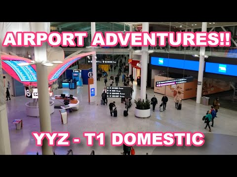 A LOOK Inside Toronto's Pearson Airport Terminal 1: Domestic. PLUS A Visit To The Maple Leaf Lounge!