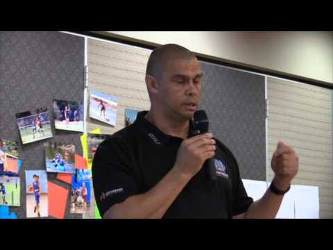Kyle Vander-kuyp speaks at Aboriginal Sport Gippsland Conference
