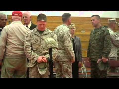 Twelve fallen Marines honored  at memorial service - 2009-02-06