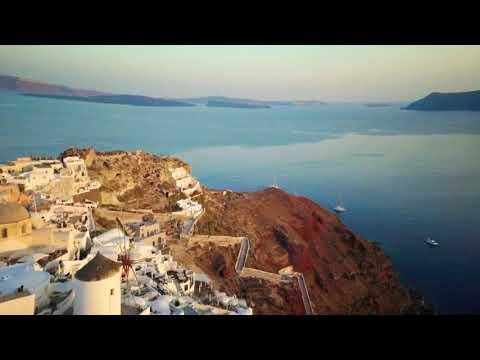 Sailing trip to Santorini 4k