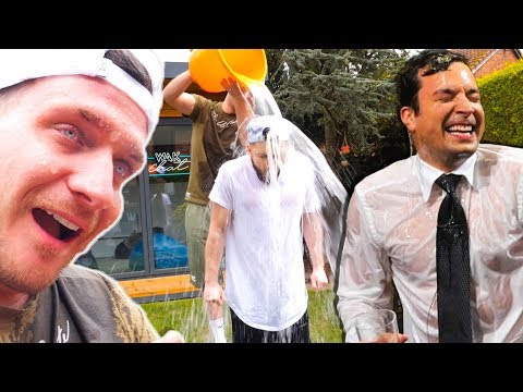 THE CHALLENGE JIMMY FALLON MADE US DO... (Water Wars)