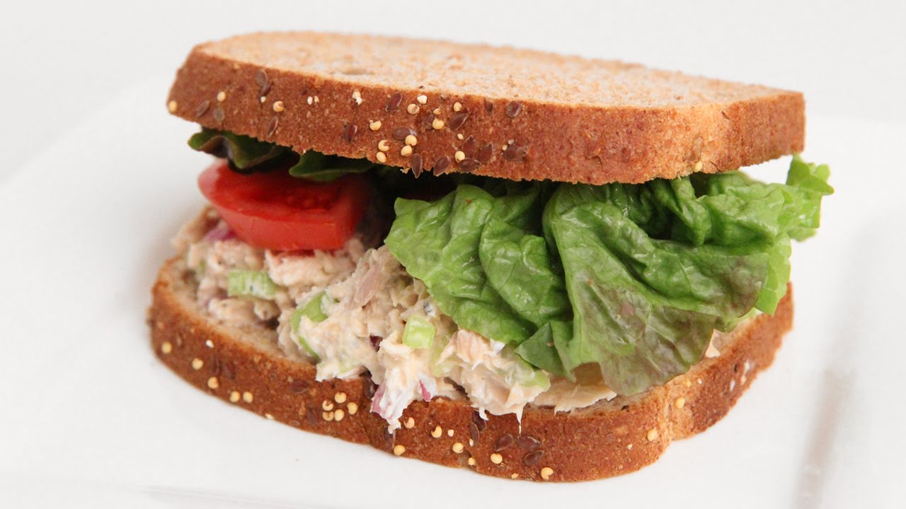 Homemade Tuna Salad Sandwich Recipe Laura Vitale Laura In The Kitchen Episode 909