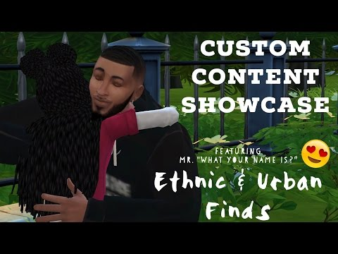Sims 4 Custom Content Creator Showcase: Ethnic & Urban Finds!
