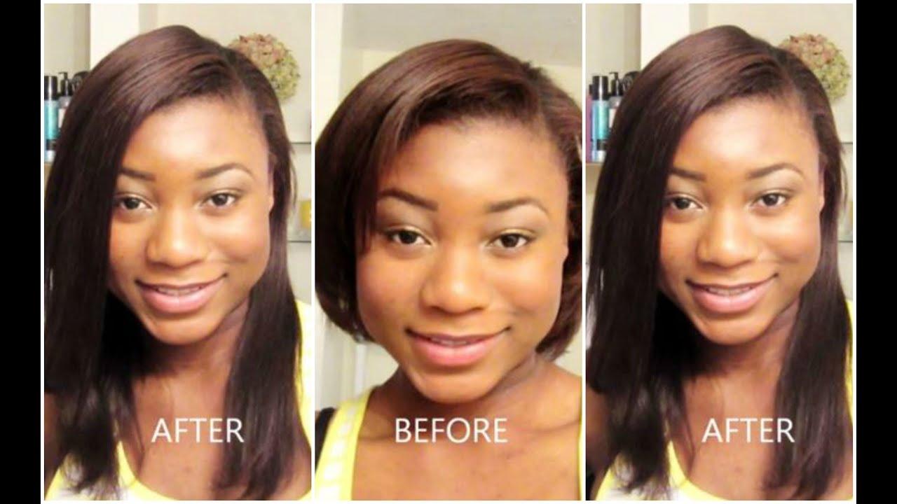 How To Put In Clip Extensions On Short Relaxed African American Hair