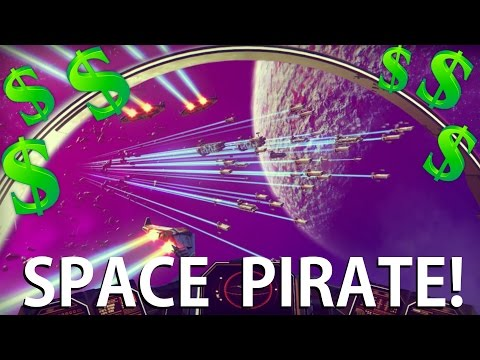 No Man's Sky - BEING A SPACE PIRATE! Making 2 MILLION in 6 minutes! (No Mans Sky Gameplay)