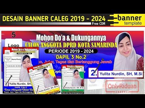 Desain Banner Spanduk Caleg Pemilu 2019 2024 di CorelDRAW Free