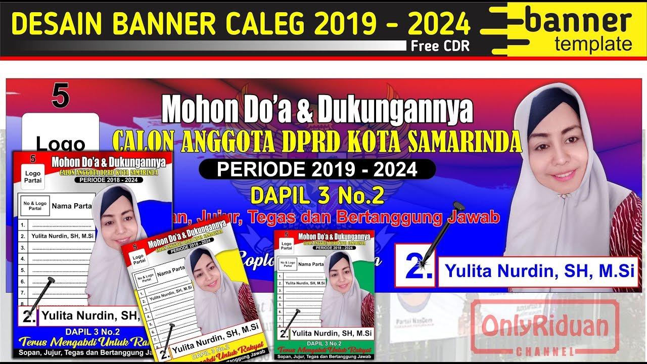 Desain Banner Spanduk Caleg Pemilu Di Coreldraw Free Banner Template