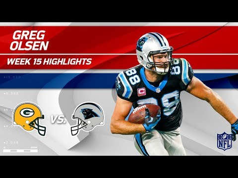Greg Olsen Highlights   Packers vs. Panthers   NFL Wk 15 Player Highlights