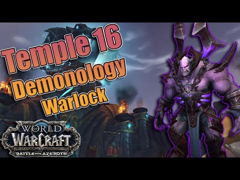 MYTHIC + Temple of Sethraliss 16! Demonology Warlock! Fortified, Bolstering, Skittish and Infested!