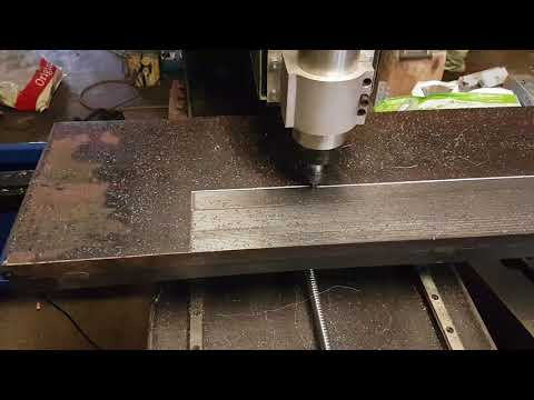 Facing steel table with diy CNC mill