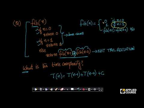 Fibonacci: Time Complexity | Solved Problems | GateAppliedcourse