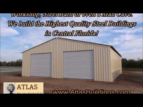 Custom Steel Buildings, Workshops, Metal Building Garage Osceola County, Orlando, Brevard, FL