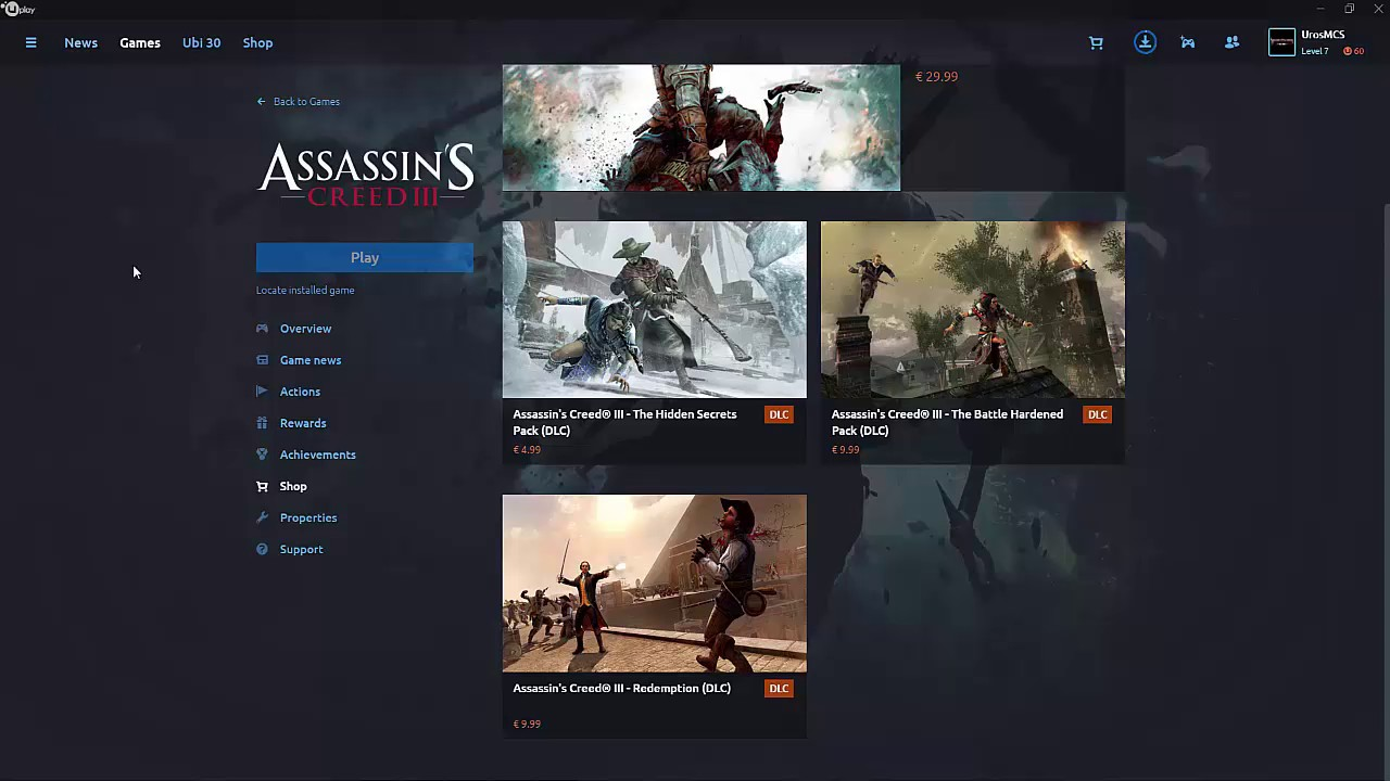 uplay скачать для assassins creed 3