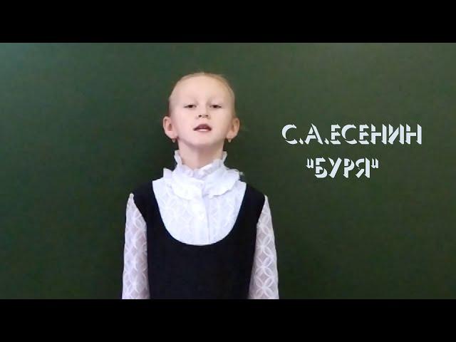 Изображение предпросмотра прочтения – ВикторияКислова читает произведение «Буря» С.А.Есенина