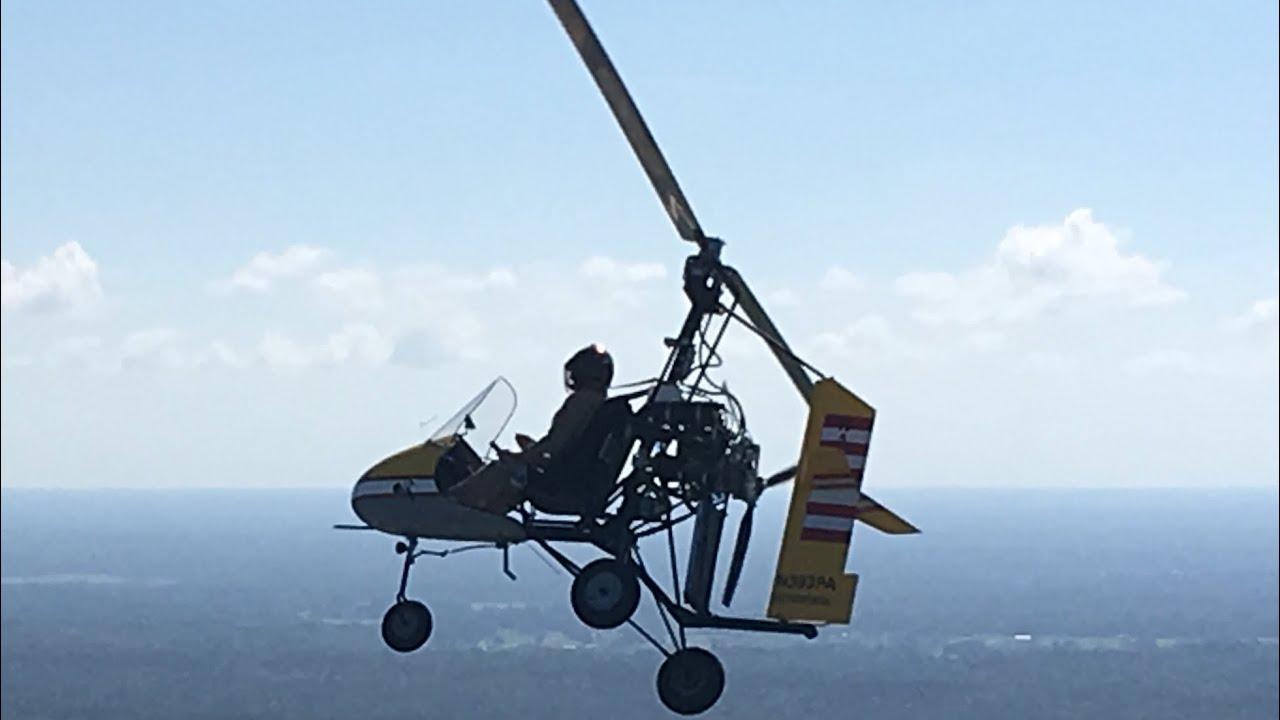 Sparrowhawk Bensen Dominator Gyroplane Flying At Zephyrhills Florida Airport