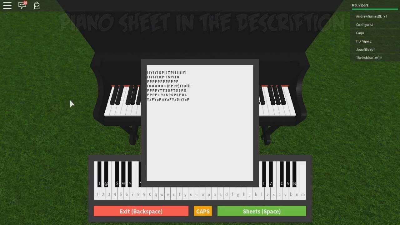 faded roblox piano sheet music