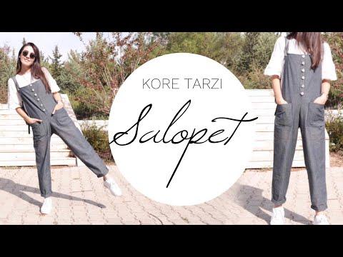 KORE TARZI SALOPET | BASİT SALOPET DİKİMİ | DIY KOREAN SALOPETTE