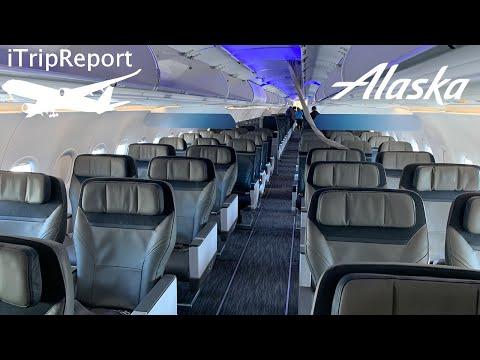 NEW INTERIOR Alaska A321NEO First Class Review