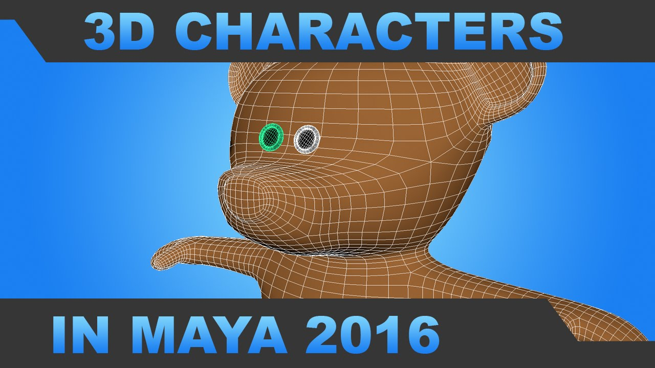 Simple 3d character modeling in maya 2016 mr h youtube Simple 3d modeling online