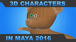Simple 3d Character Modeling in Maya 2016 - Mr. H
