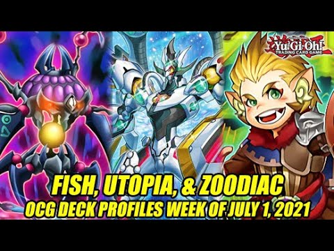 Fish, Utopia, & Zoodiac - Yu-Gi-Oh! OCG Deck Profiles Week Of July 1, 2021