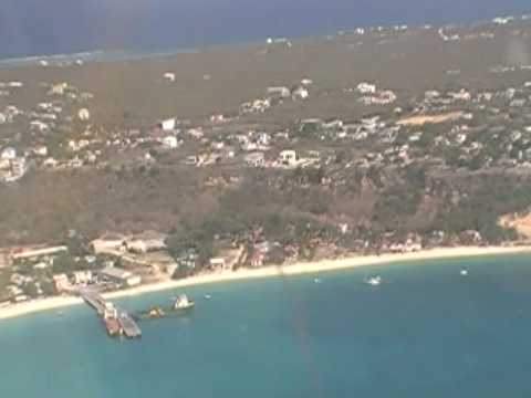 Flying into Anguilla