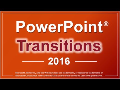 PowerPoint 2016 Transitions - YouTube