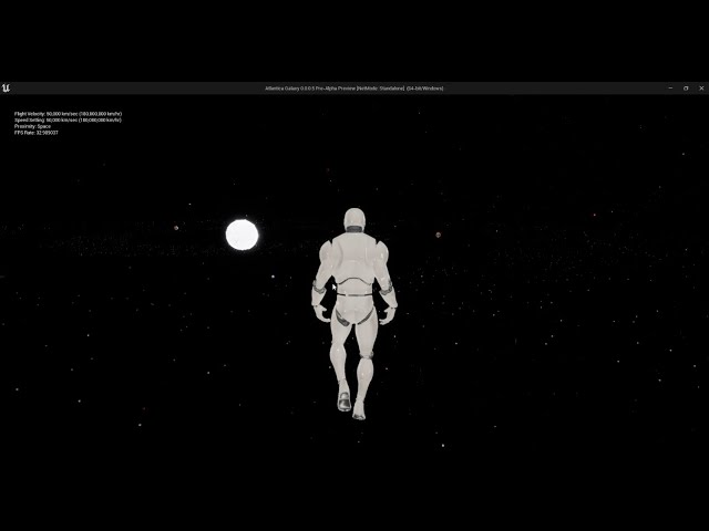 Testing Framerates at Up to 1.44 Billion Km Per Hour [Atlantica Galaxy]