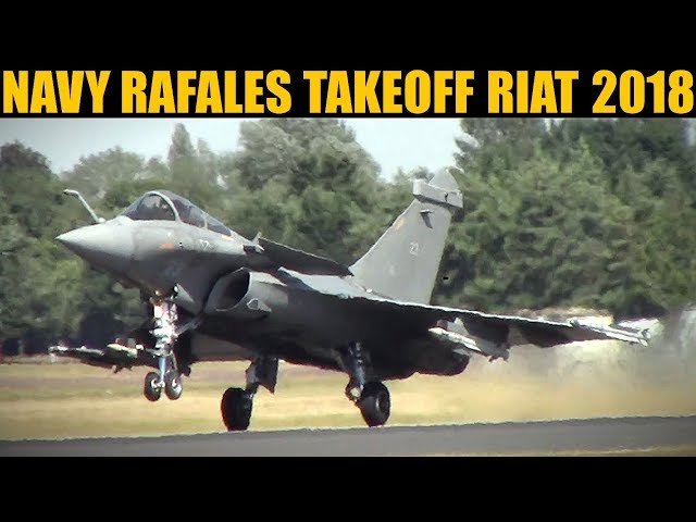 French Navy Rafale Pair Takeoff & Climb | RIAT 2018