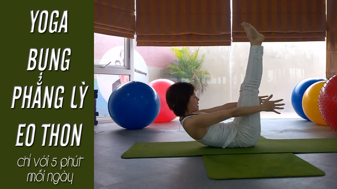 YOGA giảm cân - Bụng phẳng lì, eo thon chỉ với 5 phút yoga mỗi ngày (Yoga For Weight Loss) #giamcan
